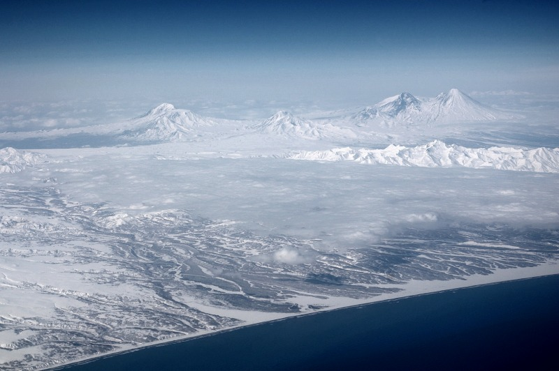 Klyuchevskaya volcanic group in Kamchatka Peninsula