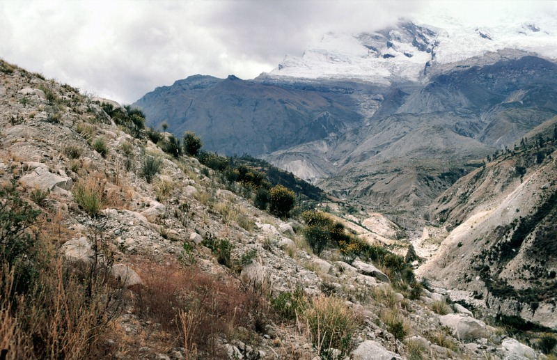 Valley where debris avalanche of Yungay flowed down