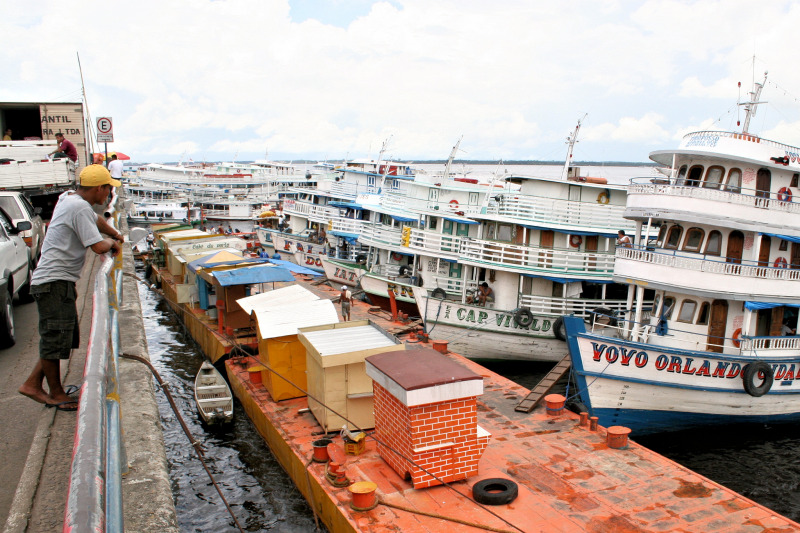 Port of Manaus, the central city of the middle Amazon