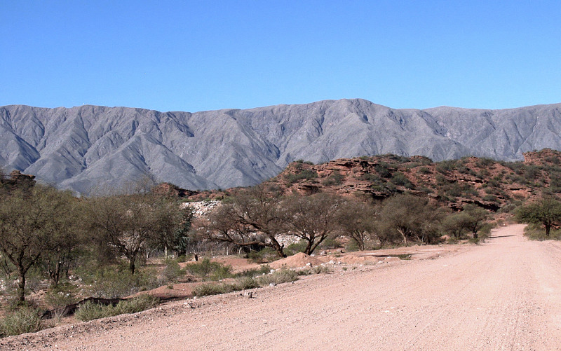 Fault scarps of the Sañogasta Mountains