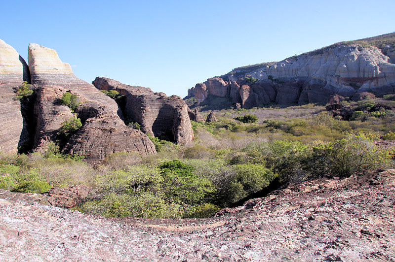 A canyon of prehistoric human life in the Serra da Capivara National Park