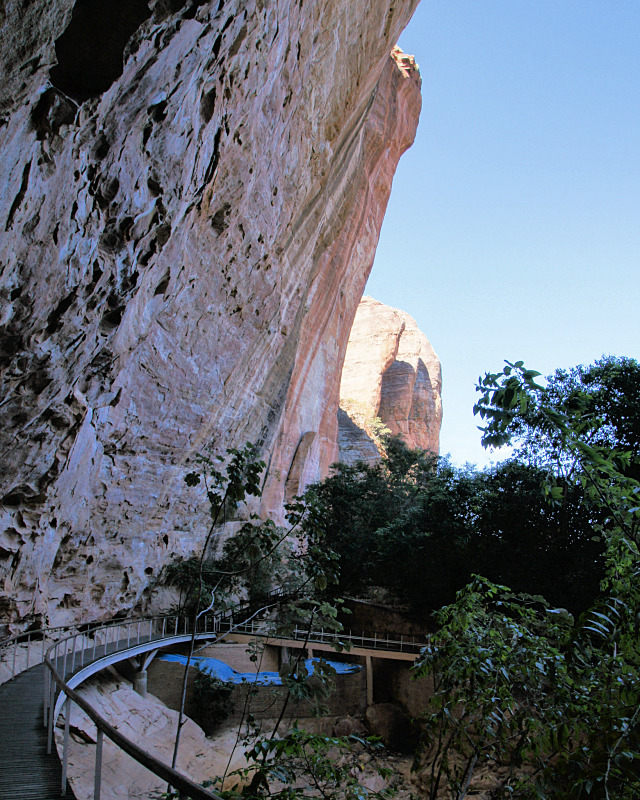 Cliffs of the rock shelter remain of Boqueirão da Pedra Furada