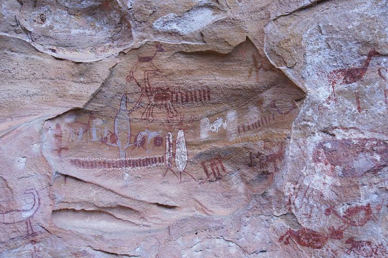 Rock paintings of the Boqueirão da Pedra Furada Remain